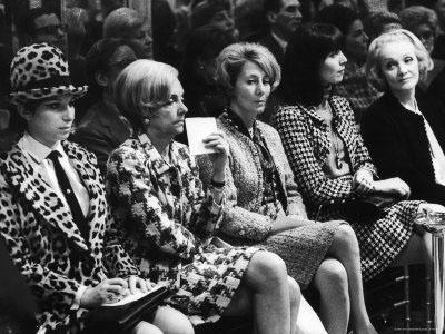 Barbra Streisand with Marlene Dietrich and Elsa Martinelli (Wearing Chanel Suits), Chanel Fashion Show, Paris, 1966<br/>