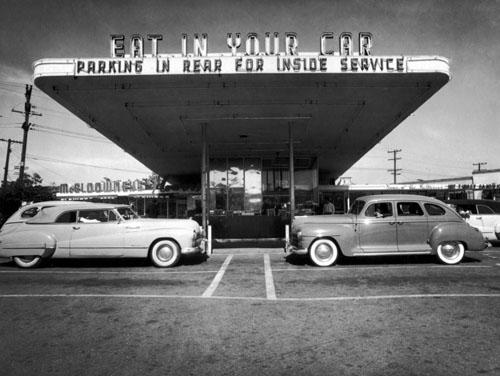 Fly-in Drive-in Theater, 1949 Gelatin Silver print