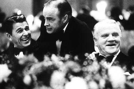Ronald Reagan, Bob Hope, James Cagney - American Film Institute Tribute to Cagney, Los Angeles, 1974<br/>