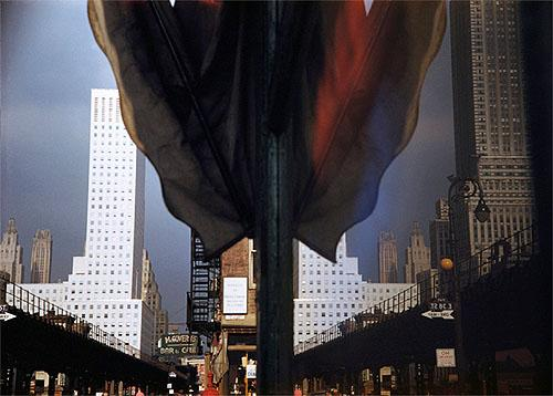 Reflection, Third Avenue, New York.1952 Color print