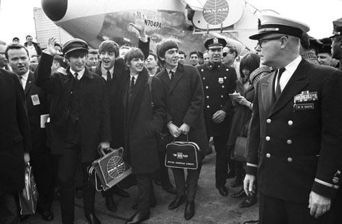 The Beatles arrive, February 7, 1964, New York<br/>