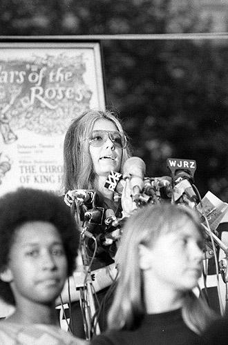 Women's Liberation March, Gloria Steinham, New York, 1970<br/>