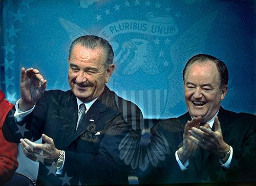 Lyndon B. Johnson and Hubert H. Humphrey Enjoying Inauguration, 1965 Archival Pigment Print