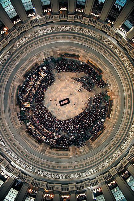 Overhead View of Coffin of Dwight D. Eisenhower, 1969 Archival Pigment Print
