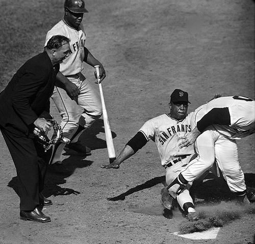 Willie Mays Steals Home for his Fifth and Final Time, 1960 Archival Pigment Print