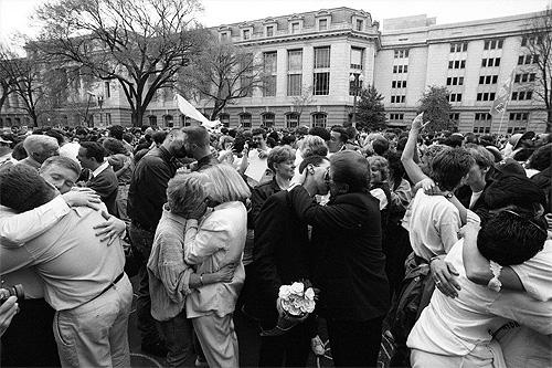 """Kiss-In"", Equal Rights March, Washington, DC, 1993<br/>"