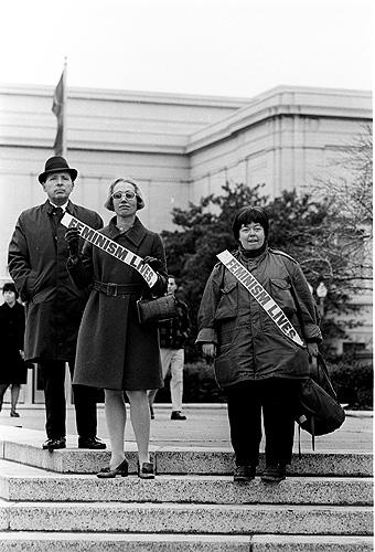Feminists at a rally, Washington, DC, 1968<br/>