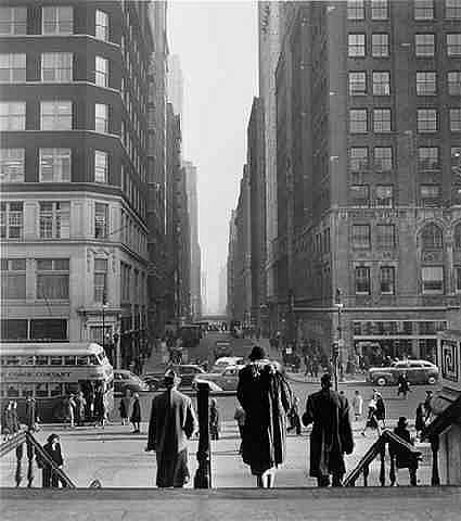 Looking East on 41st Street, NYC, 1947<br/>