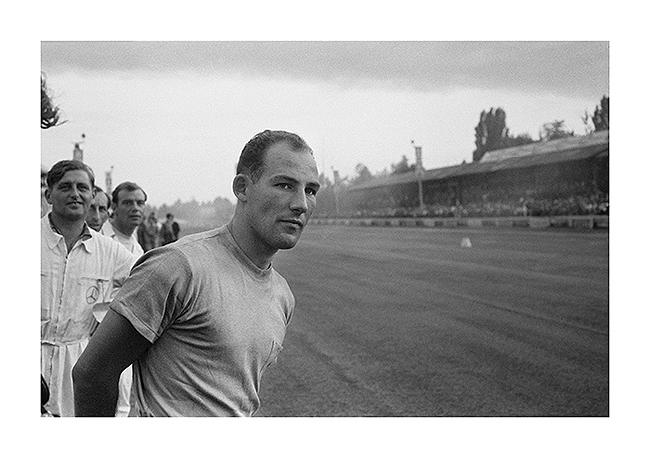 Stirling Moss, Monza, Italy, 1955 Archival Pigment Print