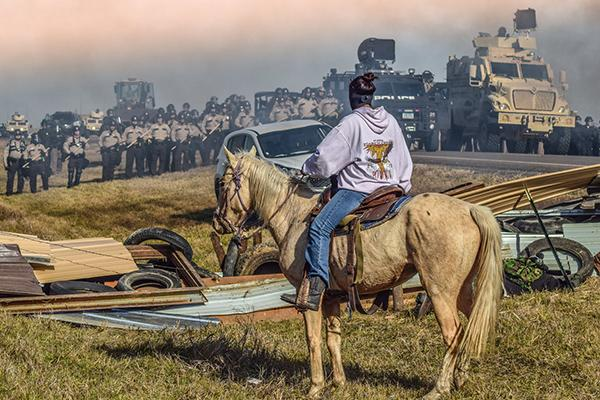 """Defend The Sacred"": Standing Rock, Cannon Ball, North Dakota, 2016<br/>"