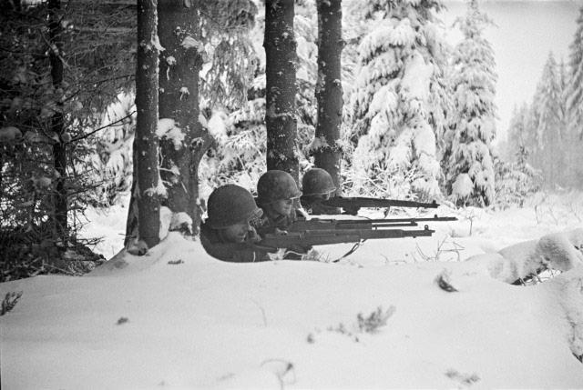 Firing Line, Battle of Hurtgen Forest, Germany, 1944 Archival Pigment Print