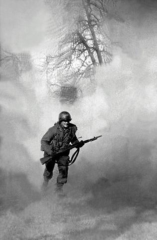 Running Soldier, Battle of the Bulge, 1944 Archival Pigment Print