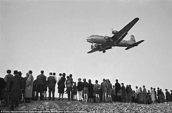 A C-54 plane during the Berlin Airlift, Germany, 1949 Archival Pigment Print