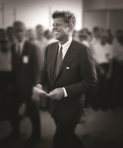 John F. Kennedy, Cape Canaveral in 1962 where he spoke to NASA personnel before giving his famous speech at Rice University about going to the moon Archival Pigment Print