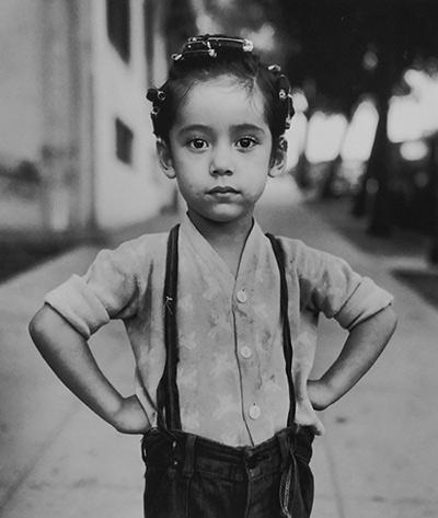 Girl with curlers, Los Angeles, 1949 Gelatin Silver print