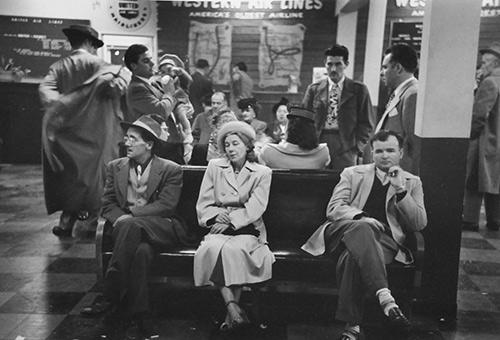 Bus Station Waiting Room Gelatin Silver print