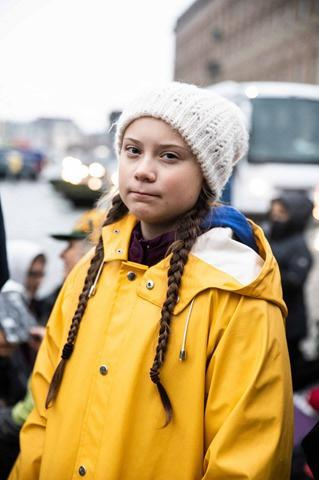 Greta Thunberg, School strike for Climate, Stockholm, Swede, November 9, 2018<br/>