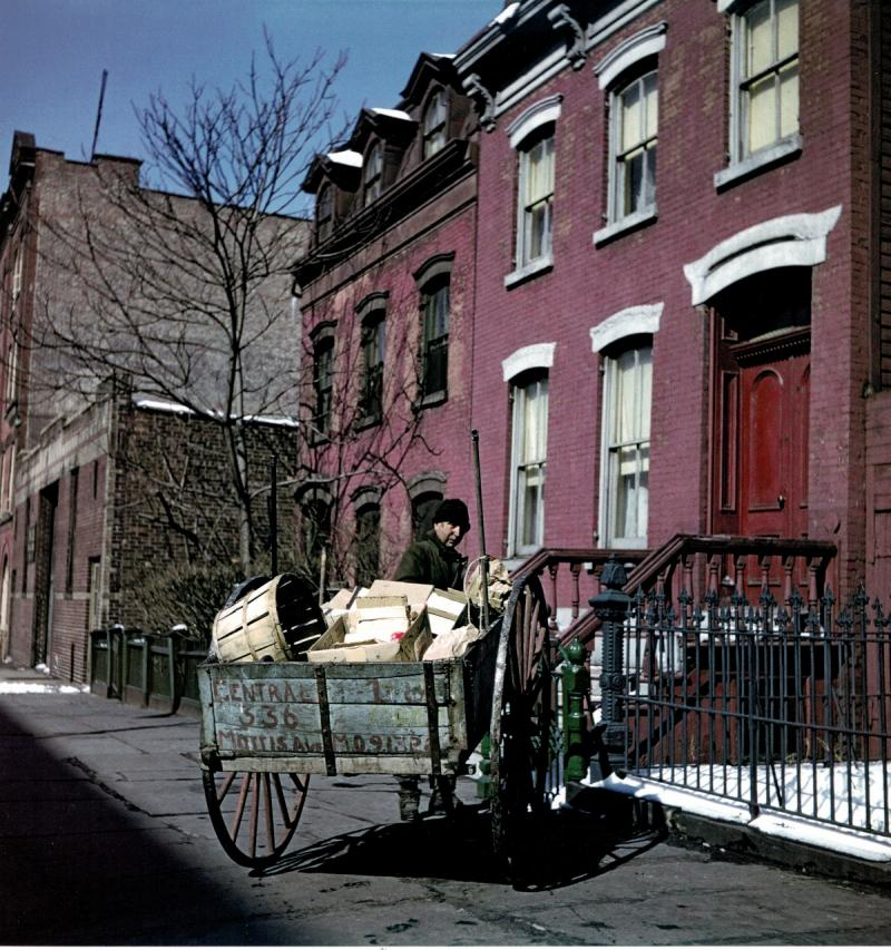 The Collector, East Harlem, New York, 1947 Archival Pigment Print