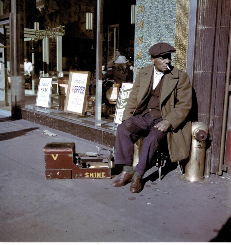 The Shoe Shine Man, East Harlem, New York, 1947 Archival Pigment Print