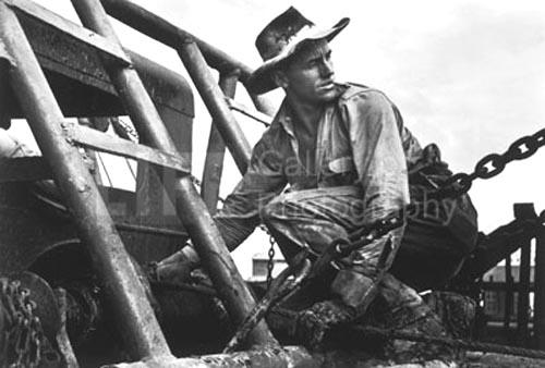 Oil field worker, Freer, Texas,1937<br/>
