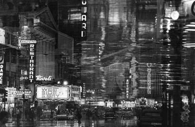 Times Square reflections, NYC, 1962 Gelatin Silver print