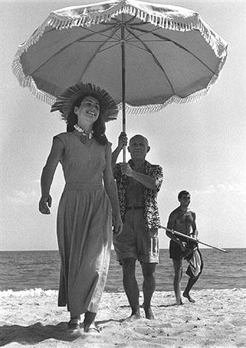 Pablo Picasso and Francoise Gilot,1951<br/>