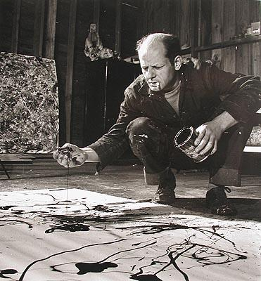 Jackson Pollock painting in his studio, Springs, New York, 1949 ? Time Inc Gelatin Silver print