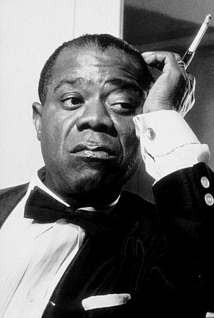 "Louis Armstrong on the set of"" High Society"" (1956)"
