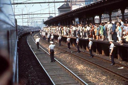 The Robert  F. Kennedy funeral train travels through Trenton, New Jersey<br/>