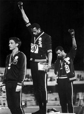 1968 Olympics Black Power salute, by John Dominis, Time Inc<br/>